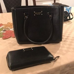 Kate spade box purse and wallet